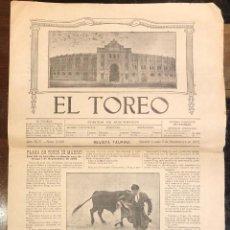 Tauromaquia: REVISTA TAURINA EL TOREO. Nº 2660. MADRID, 2 DE SEPTIEMBRE DE 1918. Lote 289567168