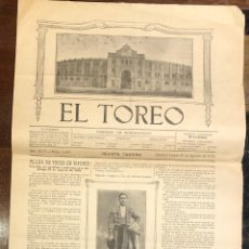 Tauromaquia: REVISTA TAURINA EL TOREO. Nº 2659. MADRID, 26 DE AGOSTO DE 1918. Lote 289567338