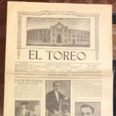 Tauromaquia: REVISTA TAURINA EL TOREO. Nº 2635. MADRID, 3 DE ABRIL DE 1918. Lote 289567613