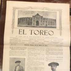 Tauromaquia: REVISTA TAURINA EL TOREO. Nº 2618. MADRID, 23 DE JULIO DE 1917. Lote 289567843