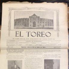 Tauromaquia: REVISTA TAURINA EL TOREO. Nº 2619. MADRID, 26 DE JULIO DE 1917. Lote 289568973