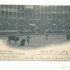 Tauromaquia: POSTAL CONEJITO PASANDO D MULETA CIRCULADA 1902 DE ALCALA DE HENARES MADRID A HUNGRIA. Lote 294826193