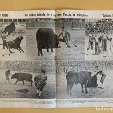 Tauromaquia: UN NUEVO TRIUNFO DE FRANCISCO POSADA EN PAMPLONA, REVISTA SOL Y SOMBRA, Nº 1120, 4 OCTUBRE 1917. Lote 295401193