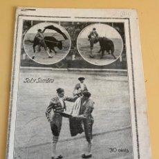 """Tauromaquia: SOL Y SOMBRA, Nº 1246, DE 29 SEPTIEMBRE 1921. CORRIDA PATRIÓTICA, BODA JOSÉ ROGER """"VALENCIA""""…. Lote 295417188"""