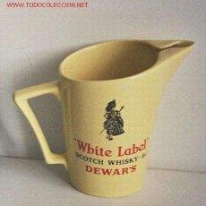 Coleccionismo de vinos y licores: JARRA DE WHISKY WHITE LABEL. Lote 26372809