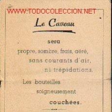 Coleccionismo de vinos y licores: CUADERNILLO DE 8 HOJAS CON INFORMACIÓN DE AÑADAS DE LOS VINOS DE BURDEOS.. Lote 185648