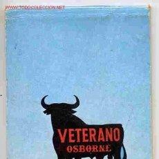 Coleccionismo de vinos y licores: LIBRETA PUBLICITARIA VETERANO OSBORNE , ORIGINAL , RB. Lote 117793500