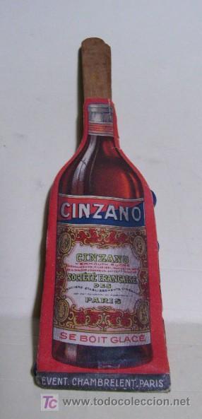CURIOSO Y VIEJO ABANICO DE LA CASA CINZANO Y FLORIO, LICORES VERMOUTH (Coleccionismo - Botellas y Bebidas - Vinos, Licores y Aguardientes)