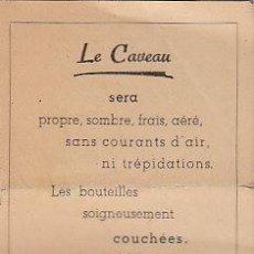 Coleccionismo de vinos y licores: FOLLETO DEL AÑO 1946 CON DATOS SOBRE AÑADAS, APELACIONES, ETC. 8 PÁGINAS. Lote 10596916