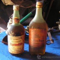 Coleccionismo de vinos y licores: BRANDY ESPLENDIDO Y BRANDY SOBERANO. Lote 26706541