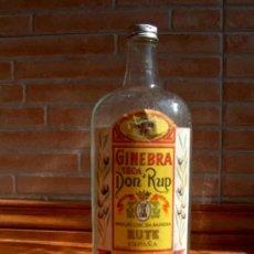 Coleccionismo de vinos y licores: BOTELLA DE GINEBRA SECA DON RUP. RUTE.. Lote 23347632
