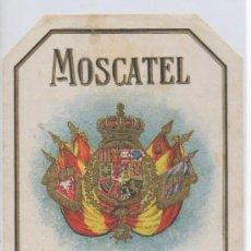 Coleccionismo de vinos y licores: ETIQUETA DE VINO MOSCATEL SUPERIOR BEBIDA LICOR BODEGA . Lote 27455045