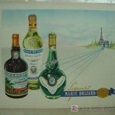 Coleccionismo de vinos y licores: PUBLICIDAD LIQUEUR MARIE BRIZARD - BORDEAUX. Lote 14671508