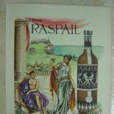 Coleccionismo de vinos y licores: PUBLICIDAD LICOR RASPAIL. Lote 14671554