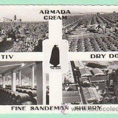 Coleccionismo de vinos y licores: FINE SANDEMAN SHERRY, POSTAL CIRCULADA (VER DORSO). Lote 15392412