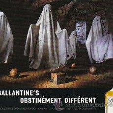 Coleccionismo de vinos y licores: BALLANTINE, OBSTINADAMENTE DIFERENTE, POSTAL FRANCESA. Lote 15392482