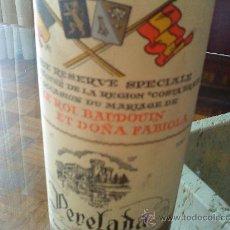 Coleccionismo de vinos y licores: BOTELLA DE VINO 1960. Lote 27155135