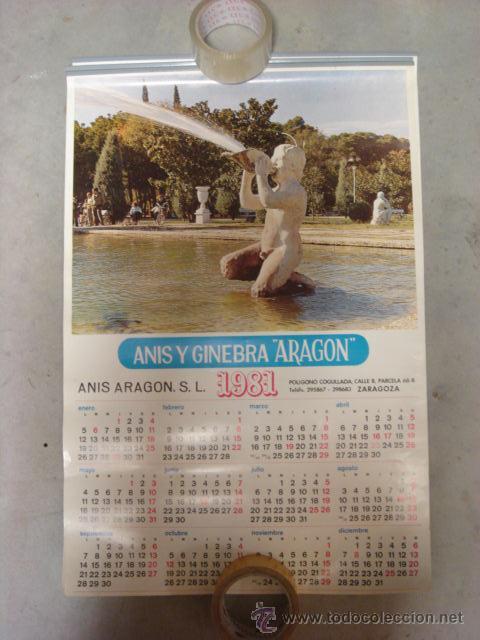 Calendario Vino 2020.Calendario Anis Aragon 1981 Zaragoza