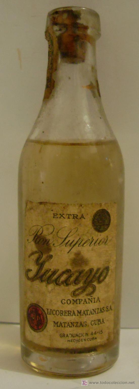 BOTELLIN DE RON SUPERIOR YUCAYO. LICORERA MATANZAS S.A. HECHO EN CUBA. (Coleccionismos - Vinos, Licores y Aguardientes)