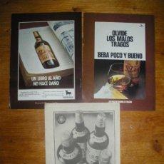 Coleccionismo de vinos y licores: PUBLICIDAD DE BRANDY MAGNO, OSBORNE. 4 ANUNCIOS.. Lote 21249463