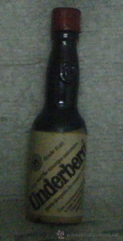 BOTELLIN LICOR DE HIERVAS AMARGO UNDERBERG RF-796 (Coleccionismo - Botellas y Bebidas - Vinos, Licores y Aguardientes)