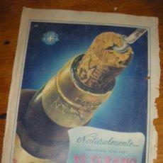Coleccionismo de vinos y licores: BRANDY VIEJO VETERANO DE OSBORNE. PUBLICIDAD.. Lote 28866699