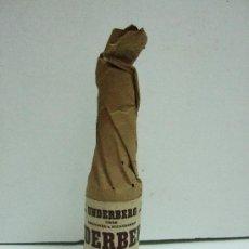 Coleccionismo de vinos y licores: BOTELLIN MINIATURA UNDERBERG - SINCE 1846 - SEMPER IDEM - GERMANY - 10CM - ENVUELTO EN PAPEL. Lote 31014367