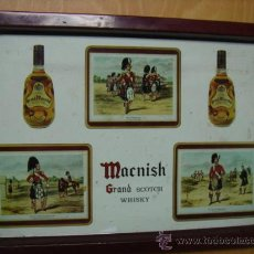 Coleccionismo de vinos y licores: BANDEJA METALICA MACNISH GRAND SCOTCH WHISKY MADE IN SPAIN VICH. Lote 31903747