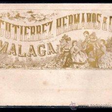 Coleccionismo de vinos y licores: ETIQUETA DE VINO GUTIERREZ HERMANOS & Cª MALAGA SOGLO XIX. Lote 32210592