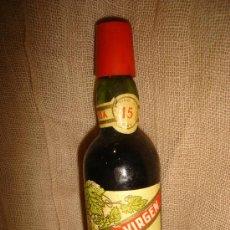 Coleccionismo de vinos y licores: BOTELLÍN MALAGA VÍRGEN, LÓPEZ HERMANOS, UVA DE MÁLAGA. Lote 32855891