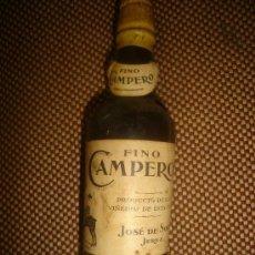Coleccionismo de vinos y licores: BOTELLÍN FINO CAMPERO, JOSÉ DE SOTO, JEREZ. Lote 33112696