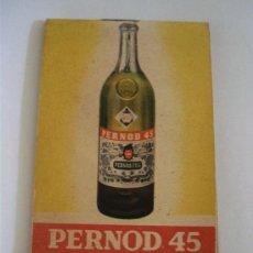 Coleccionismo de vinos y licores: PEQUEÑO BLOQUE DE NOTAS FRANCES, PUBLICIDAD PERNOD 45 (USADO, 6X9,5CM APROX). Lote 46481045