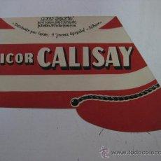 Coleccionismo de vinos y licores: GORRO DEPORTE - LICOR CALISAY - BILBAO - AÑOS 1940-50. Lote 33476139