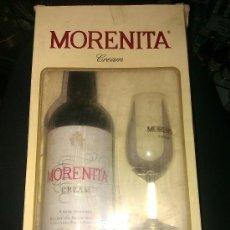 Coleccionismo de vinos y licores: MORENITA CREAM. VINO DE ARTESANIA. FRANCISCO AROCA. JEREZ. EN SU CAJA. INCLUYE CATAVINO.. Lote 55387880
