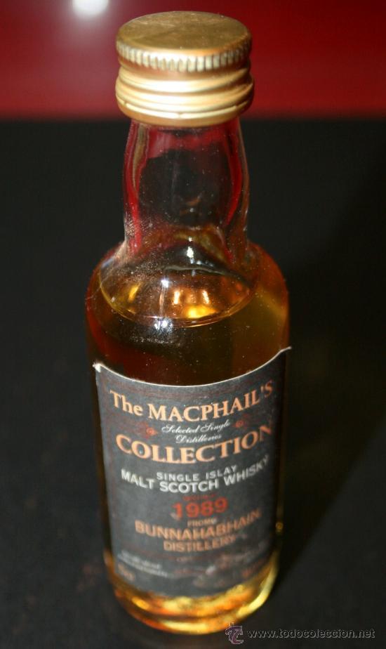 BOTELLITA DE CRISTAL SCOTCH WHISKY THE MACPHAILS - 12 CM. - LLENA SIN ABRIR (Coleccionismo - Botellas y Bebidas - Vinos, Licores y Aguardientes)