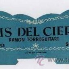 Coleccionismo de vinos y licores: FRONTAL ANTIGUA CAJA EXPOSITOR DE ANIS DEL CIERVO - RAMON TORREGUITART - SABADELL- APROX.22CM.LARGO. Lote 35559931