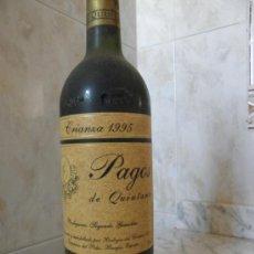 Coleccionismo de vinos y licores: VINO CRIANZA 95 PAGOS DE QUINTANA RIBERA DEL DUERO. Lote 35699683
