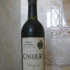 Coleccionismo de vinos y licores: BOTELLA DE VINO RIBERA DEL DUERO CALLEJO CRIANZA DEL 95. Lote 35699778