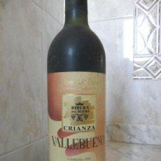 Coleccionismo de vinos y licores: BOTELLA DE VINO RIBERA DEL DUERO 90 CRIANZA VALLEBUENO. Lote 35699854