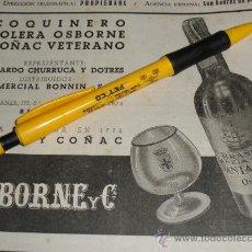 Coleccionismo de vinos y licores: COQUINERO, SOLERA OSBORNE. COÑAC VETERANO.. Lote 36713387