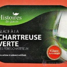 Coleccionismo de vinos y licores: CHARTREUSE - CARTON PUBLICITARIO - HELADO DE CHARTREUSE VERDE - VOIRON / FRANCIA - TARRAGONA / TGN . Lote 37278091