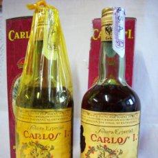 Coleccionismo de vinos y licores: BOTELLAS DE BRANDY CARLOS I. SOLERA ESPECIAL. Lote 37470790