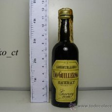 Coleccionismo de vinos y licores: BOTELLITA BOTELLIN AMONTILLADO TIO GUILLERMO SHERRY BODEGAS GARVEY JEREZ. Lote 37963262