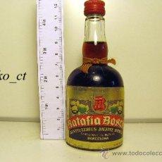 Coleccionismo de vinos y licores: BOTELLITA BOTELLIN RATAFIA BOSCH DESTILERIAS JAUME BOSCH. Lote 37984453