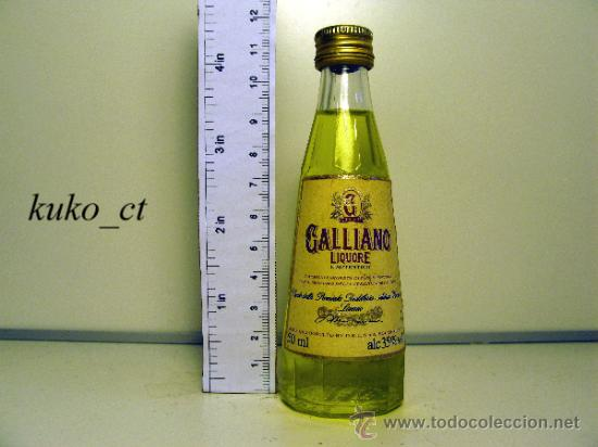 BOTELLITA BOTELLIN LICOR GALLIANO AUTENTICO ITALIANO DESTILERIAS DESTILERIAS DRL SOLARO ITALY (Coleccionismos - Vinos, Licores y Aguardientes)