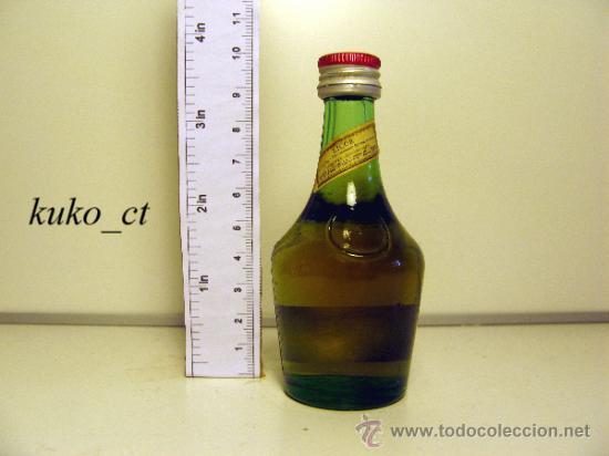 BOTELLITA BOTELLIN BRANDY RESERVA BENEDICTINE DESTILERIAS BENEDICTINE FRANCIA (Coleccionismo - Botellas y Bebidas - Vinos, Licores y Aguardientes)