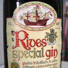 Coleccionismo de vinos y licores: BOTELLA RIVES SPECIAL GIN. Lote 38275838
