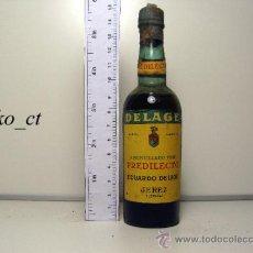Coleccionismo de vinos y licores: BOTELLITA BOTELLIN AMONTILLADO FINO PREDILECTO BODEGAS EDUARDO DELAGE JEREZ. Lote 38427251