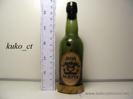 BOTELLITA BOTELLIN RON SERPIS BODEGAS GISBERT OLCINA Y CIA ALCOY (Coleccionismo - Botellas y Bebidas - Vinos, Licores y Aguardientes)