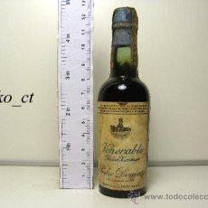 Coleccionismo de vinos y licores: BOTELLITA BOTELLIN PEDRO XIMENEZ VENERABLE BODEGAS PEDRO DOMECQ. Lote 38447738